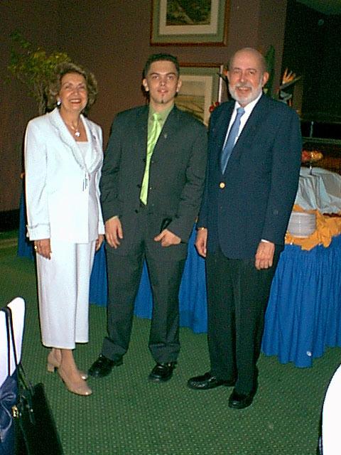 Con Eduardo Azuaje en el Hotel Caracas Hilton, 2001